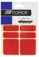 Nálepky FORCE reflexní 16352,sada 6 ks 3M, červené