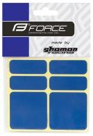 Nálepky FORCE reflexní 16353,sada 6 ks 3M, modré