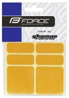 Nálepky FORCE reflexní 16351,sada 6 ks 3M, žluté