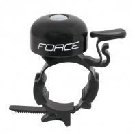 Zvonek FORCE  mini, Fe/plast 22,2-31,8mm, černý
