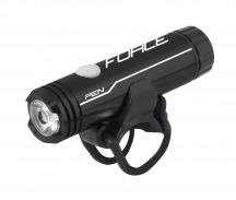 Světlo přední FORCE PEN 200LM 1LED dioda USB,černé