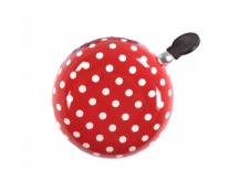 Zvonek M-Wave Červený s bílými puntíky
