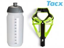 Košík TACX Deva zelená-neonová/karbon + ZDARMA láhev Shiva 0,5l