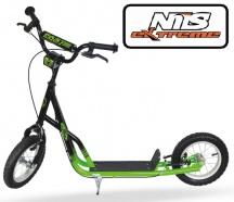 """Koloběžka NILS Extreme 12/12"""" WH117B zelená/černá"""