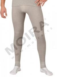 Kalhoty MOIRA MONO MO/DN modrá vel.M,dlouhé pánské spodky