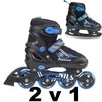 Brusle dětské 2v1 NILS EXTREME NH 7104 A vel. 38-41 černá/modrá