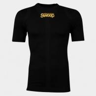Pánské triko s krátkým rukávem SWEEP černé SWFT006 vel.M/L