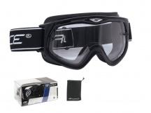 Brýle FORCE Black sjezdové černé, čiré sklo