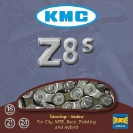 Řetěz KMC Z-8 sříbrno/šedý, BOX, spojka, balený
