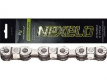 Řetěz NEXELO e-bike 8-kolo stříbrný, BOX, spojka, balený