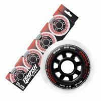 Kolečka RADICAL 90x24mm, 85A, sada 4 koleček,černá barva