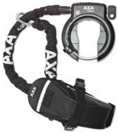Zámek AXA Defender obloukový + řetěz Plug In 100 černý + Outdoor brašna