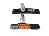 Brzdové botky Author ABS - 3CC černá/oranžová/šedá,sada 4ks