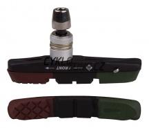 Botka brzdy PRO-T V-brake Cartridge třísměsová Army