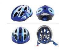 Přilba Force LARK modrá bílá vel.M,S cyklistická helma dětská