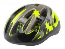 Přilba Force LARK černá fluo cyklistická helma dětská
