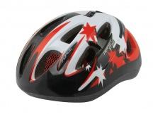 Přilba Force LARK černá-červená cyklistická helma dětská 48-54cm