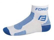 Ponožky FORCE 1 bílo-modré vel.S-M