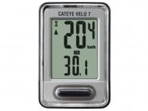 Cyklopočítač CATEYE CAT Velo 7 (VL520) černá/stříbrná