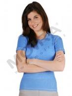 Triko MOIRA MONO krátký rukáv dámské,chrpa-modrá barva