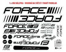 Nálepky FORCE 4 MTB na rám, 37x27cm