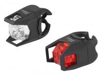 Sada blikaček Force CAGE přední bílá + zadní červená